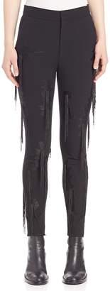 MS MIN Women's Fringe-Detail Pants