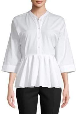 Tome Peplum Cotton Shirt
