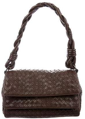 Bottega Veneta Intrecciato Double Flap Bag