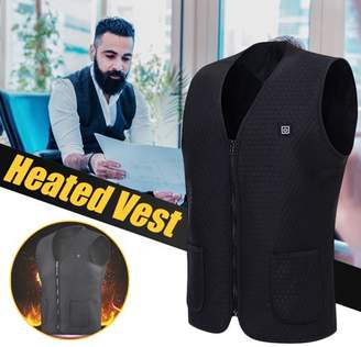 mtqsun 5V Mens Electric Sleeveless Vest Heated Cloth electric heating vest Jacket USB Winter Warm Heating Coat