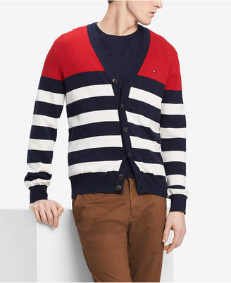 Tommy Hilfiger Men Signature Striped Cardigan Sweater
