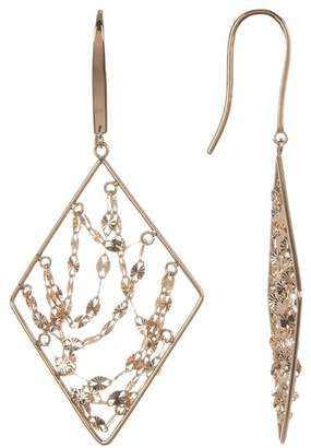 Lana 14K Yellow Gold Diamond Webbed Earrings