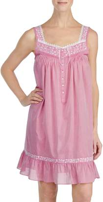 Eileen West Cotton Chambray Chemise