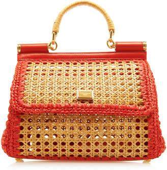 Dolce & Gabbana Sicily Woven Raffia Bag