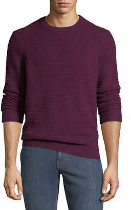 Neiman Marcus Men's Ribbed Cashmere Pullover Sweater