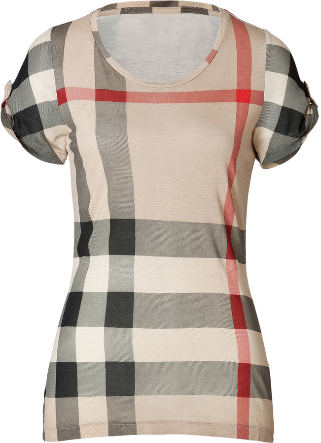 Burberry Giant Check Short Sleeve T-Shirt in New Classic