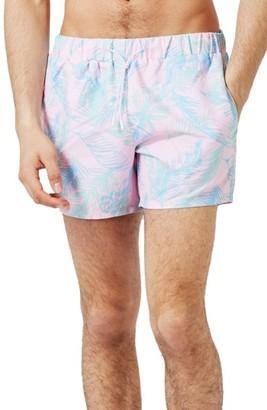 Men's Topman Leaf Swim Shorts $40 thestylecure.com
