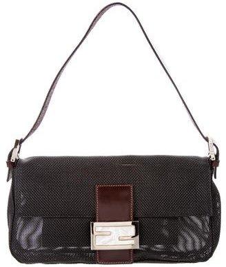Fendi Woven PVC Baguette Bag