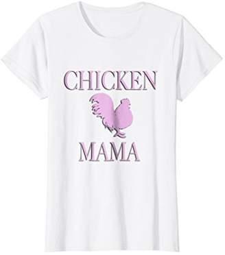 Womens Cute Chicken Mama T-Shirt Gift