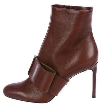 Valentino Leather Round-Toe Ankle Boots w/ Tags