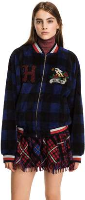 Tommy Hilfiger Tartan Fleece Bomber Jacket