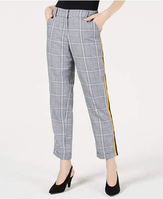 Project 28 Nyc Menswear Plaid Side-Striped Pants