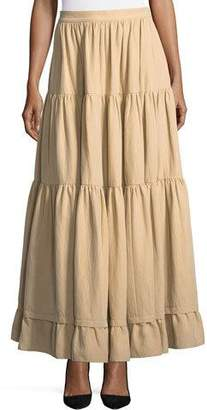 Co Long Tiered Cotton-Poplin Skirt