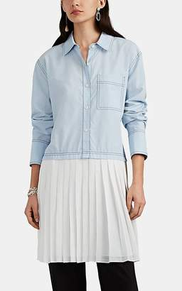 Derek Lam 10 Crosby Women's Patchwork Shirtdress - Blue