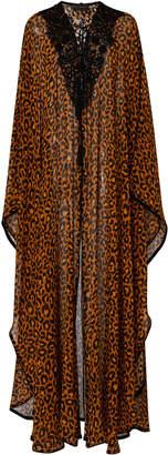 Dundas Leopard Print Silk Kaftan Dress