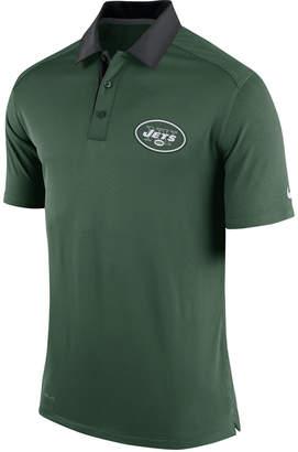 Nike Men's New York Jets Elite Coaches Polo $80 thestylecure.com