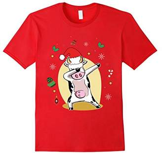 Cute Cow Dabbing Merry Christmas Shirts