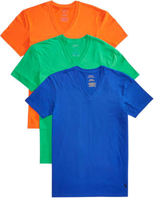 Polo Ralph Lauren Men 3-Pk. Classic V-Neck Shirts