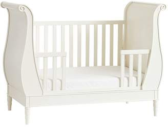 Pottery Barn Kids Quinn Sleigh Toddler Bed Conversion Kit, French White