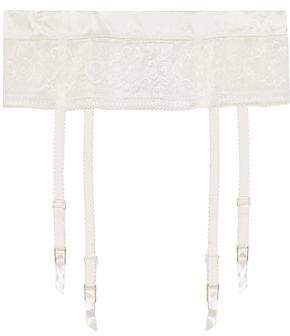 Stella McCartney Ophelia Whispering Satin-Trimmed Lace Suspender Belt
