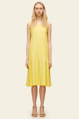 Mansur Gavriel Linen Pleated Drop Waist Dress