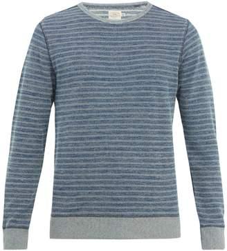 Faherty Crew-neck striped cotton sweater