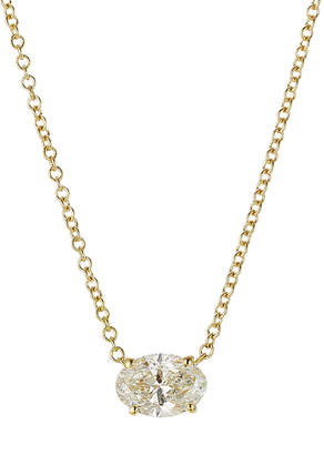 Ileana Makri Pear Cut Diamond Necklace in 18K Yellow Gold