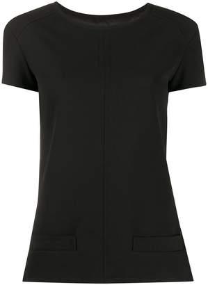 Courreges plain fitted T-shirt