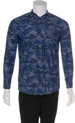 ATM Anthony Thomas Melillo Woven Camouflage Print Shirt