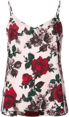 Equipment floral print vest top