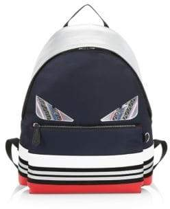Fendi Bugs Colorblock Striped Backpack