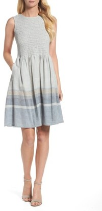 Women's French Connection Serge Stripe Fit & Flare Dress $128 thestylecure.com