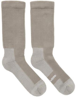 Rick Owens Grey Hiking Socks