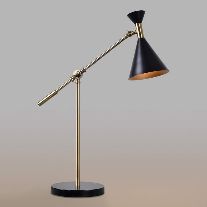 Cost Plus World Market Antique Brass Mid Century Adjustable Melvin Task Desk Lamp