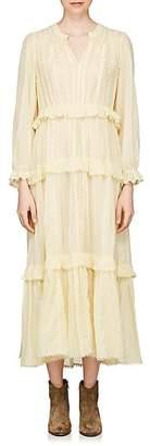 Etoile Isabel Marant Women's Aboni Embroidered Cotton Maxi Dress