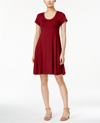 Style & Co Short-Sleeve A-Line Dress, Only at Macy's $49.50 thestylecure.com