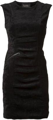 Nicole Miller sleeveless tucked dress