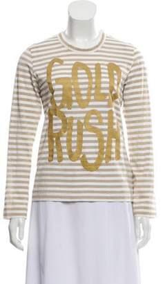 Comme des Garçons Metallic Long Sleeve T-Shirt Gold Comme des Garçons Metallic Long Sleeve T-Shirt