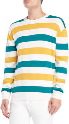Le Mont St Michel Stripe Crew Neck Long Sleeve Sweater