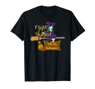 b-ROOM Halloween Madness Gift Designs Flight Student Fly Broom Solo Halloween Teen Driver T-Shirt