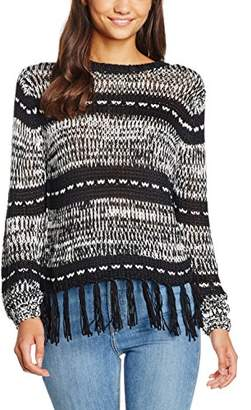 MinkPink Women's Smoke On The Water Knit Striped Long Sleeve Tops,8 (Manufacturer Size:X-Small)