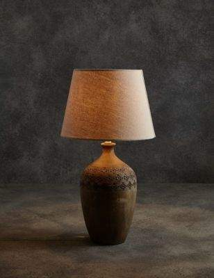 Marks and Spencer Bianca Wooden Urn Table Lamp