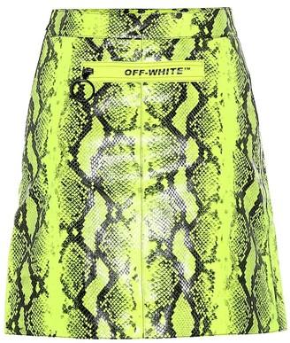 Off-White Off White Python-printed leather miniskirt