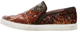 Tabitha Simmons Velvet Slip-On Sneakers
