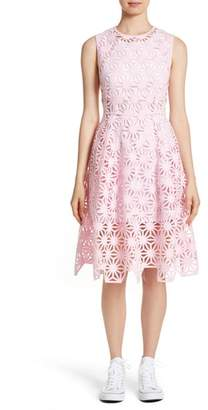 PASKAL Geo Laser Cut Fit & Flare Dress