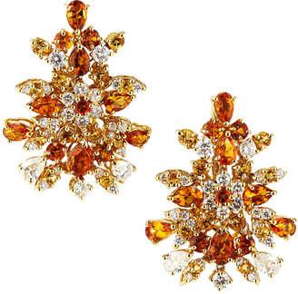 Roberto Coin Fantasia 18k White Gold Diamond Multi-Citrine Earrings