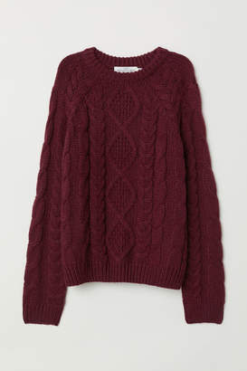 H&M Cable-knit Sweater - Red