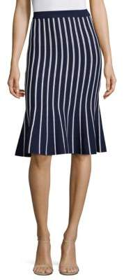 MICHAEL Michael Kors Vertical Striped Skirt
