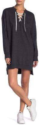 Solutions Lace-Up Knit Dress