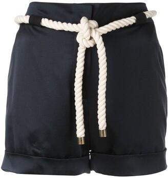 Monse tie waist shorts